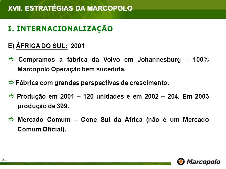 XVII. ESTRATÉGIAS DA MARCOPOLO