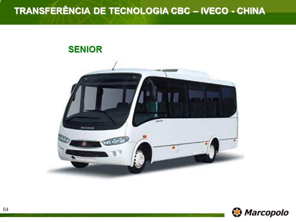 TRANSFERÊNCIA DE TECNOLOGIA CBC – IVECO - CHINA