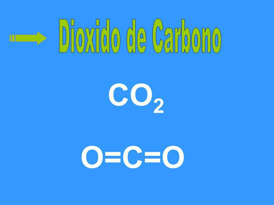 Dioxido de Carbono CO2 O=C=O