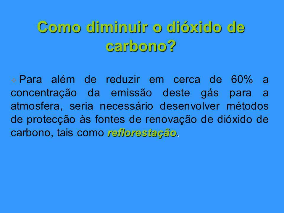 Como diminuir o dióxido de carbono