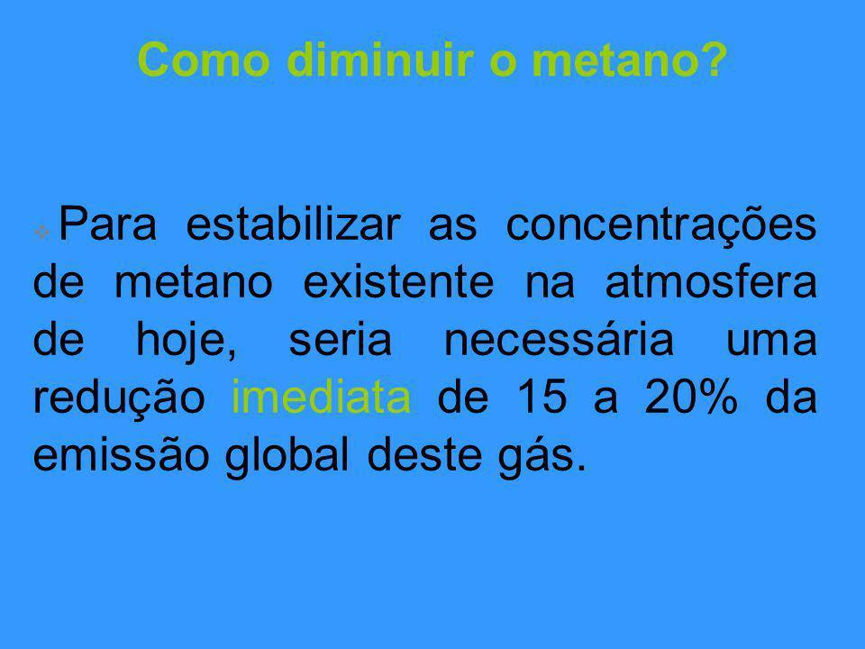 Como diminuir o metano