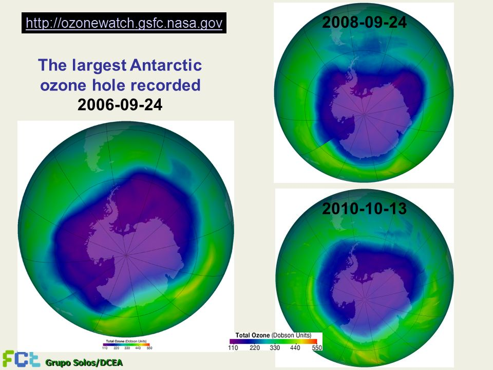 The largest Antarctic ozone hole recorded 2006-09-24