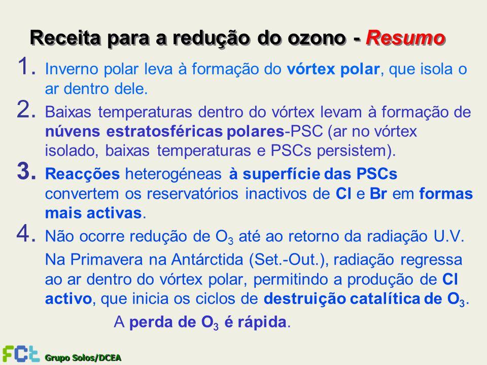 Receita para a redução do ozono - Resumo
