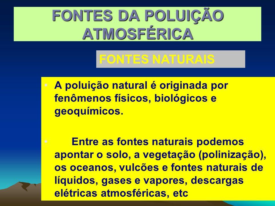FONTES DA POLUIÇÃO ATMOSFÉRICA