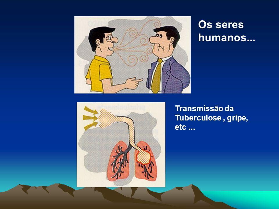 Os seres humanos... Transmissão da Tuberculose , gripe, etc ...