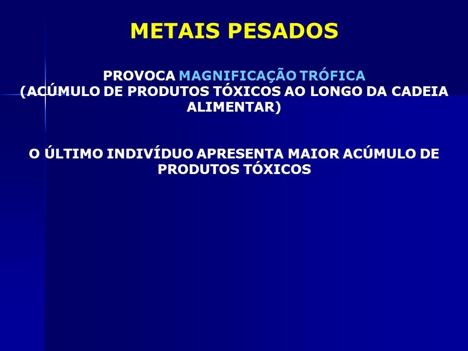 METAIS PESADOS PROVOCA MAGNIFICAÇÃO TRÓFICA