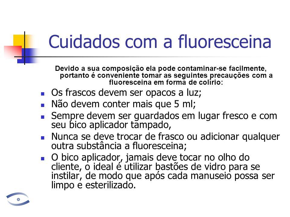 Cuidados com a fluoresceina