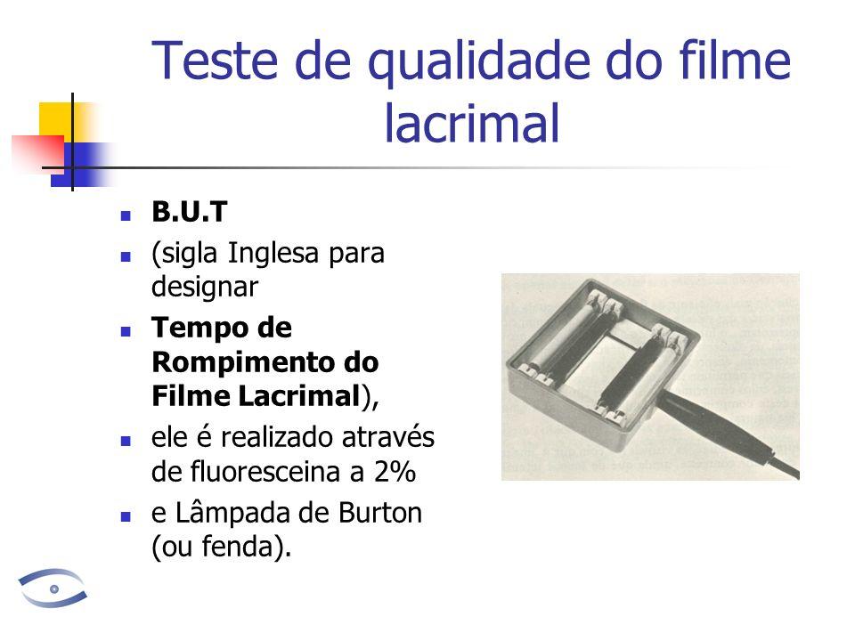 Teste de qualidade do filme lacrimal