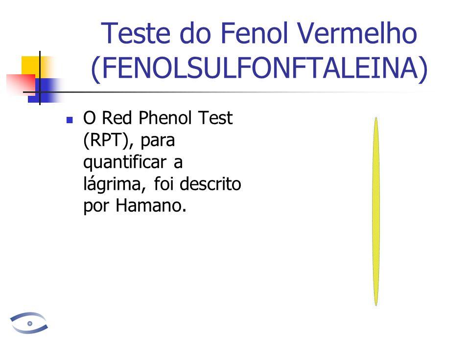 Teste do Fenol Vermelho (FENOLSULFONFTALEINA)