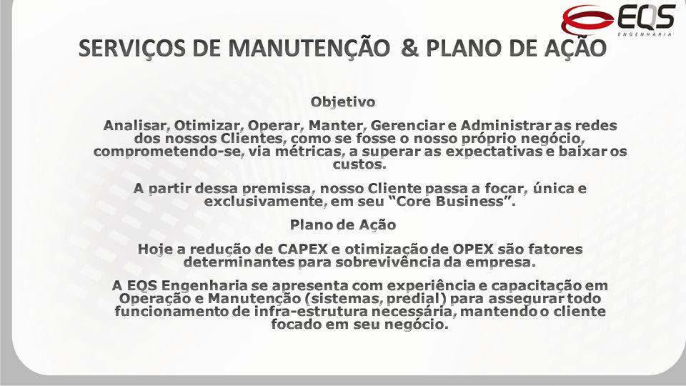 SERVIÇOS DE MANUTENÇÃO & PLANO DE AÇÃO