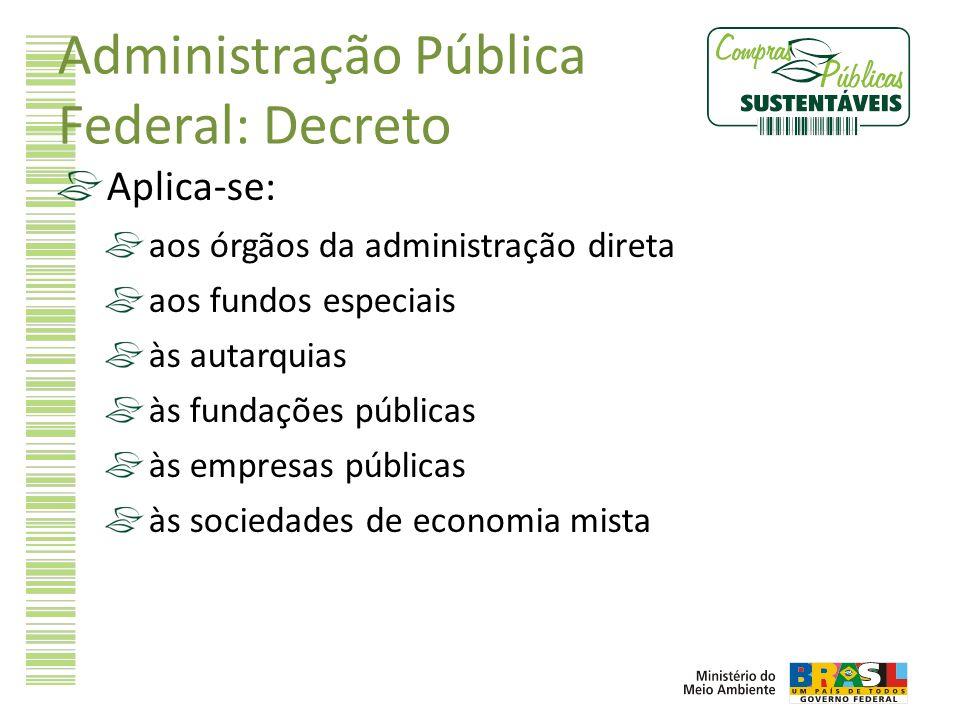 Administração Pública Federal: Decreto