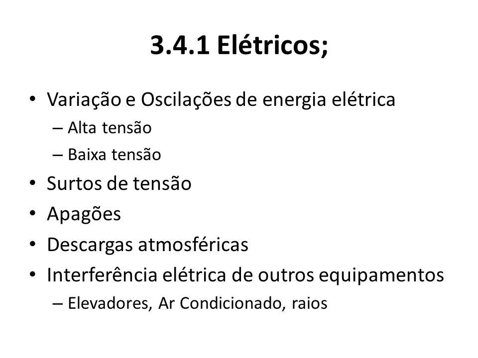 3.4.1 Elétricos; Variação e Oscilações de energia elétrica