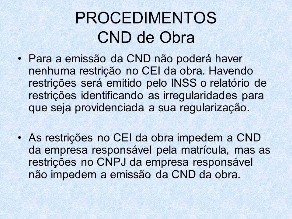 PROCEDIMENTOS CND de Obra