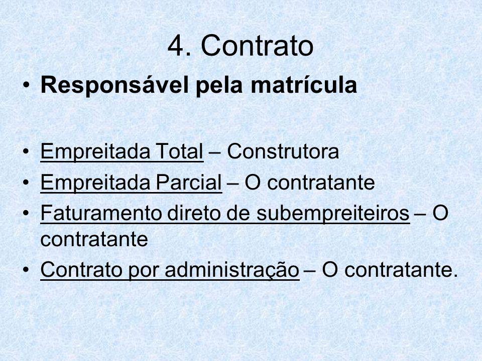 4. Contrato Responsável pela matrícula Empreitada Total – Construtora