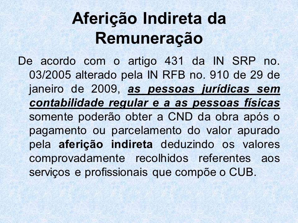 Aferição Indireta da Remuneração