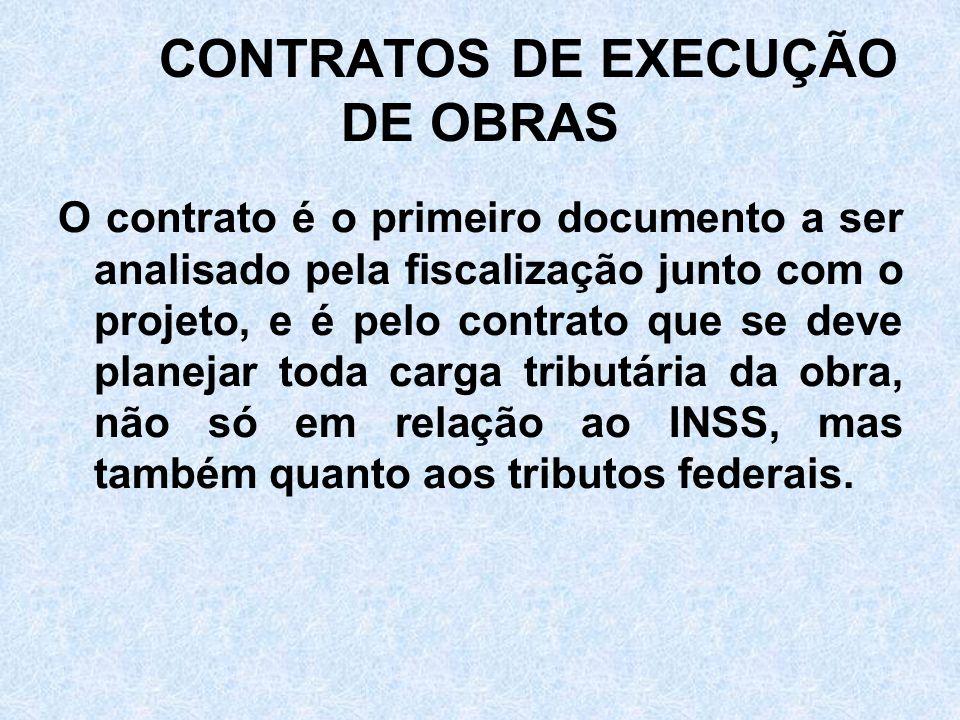 CONTRATOS DE EXECUÇÃO DE OBRAS
