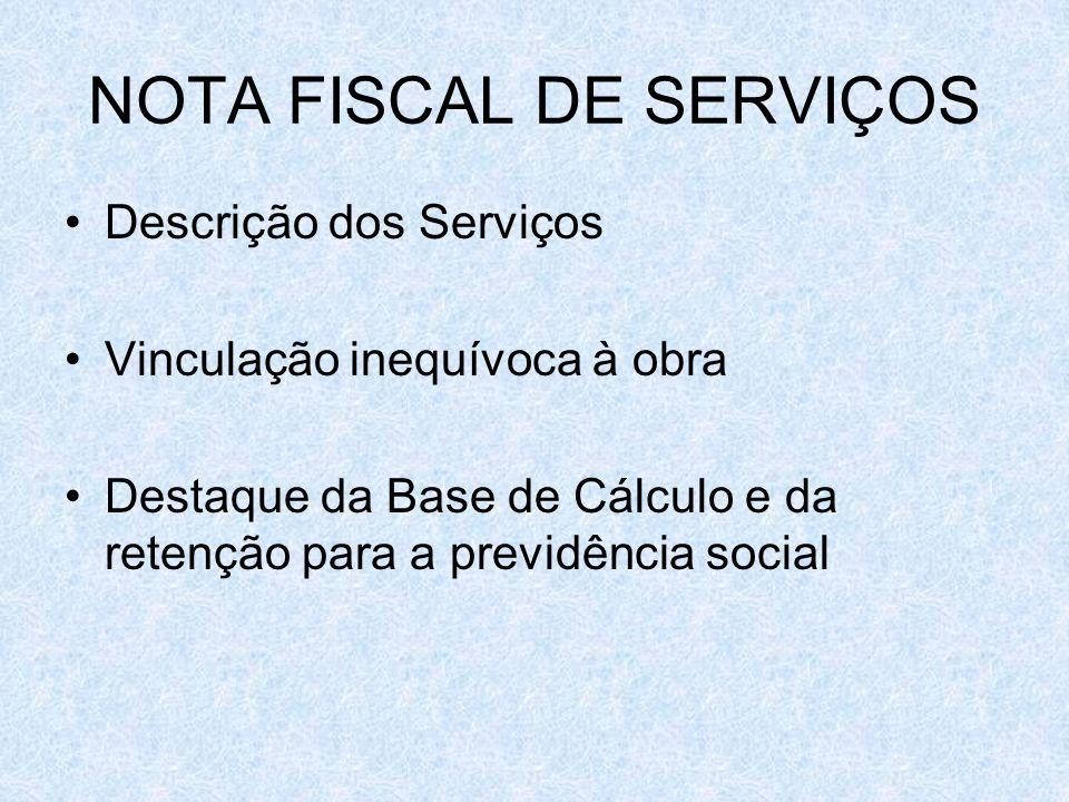 NOTA FISCAL DE SERVIÇOS