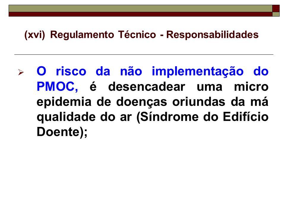 (xvi) Regulamento Técnico - Responsabilidades