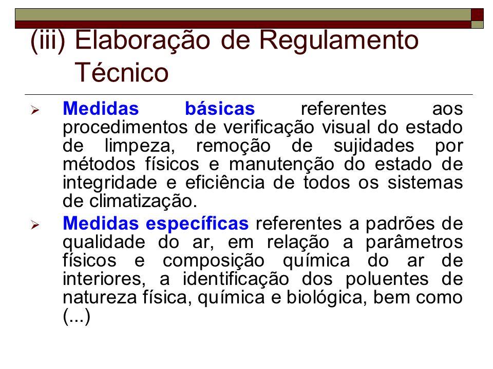 Elaboração de Regulamento Técnico