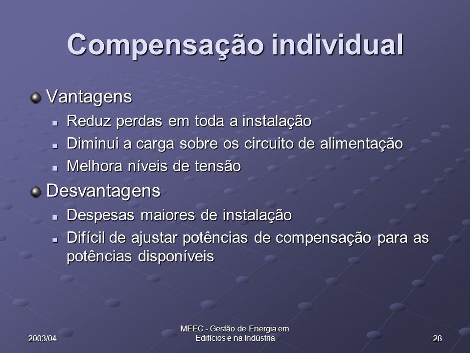 Compensação individual