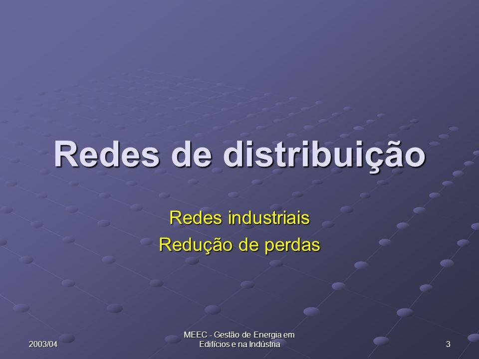 Redes industriais Redução de perdas
