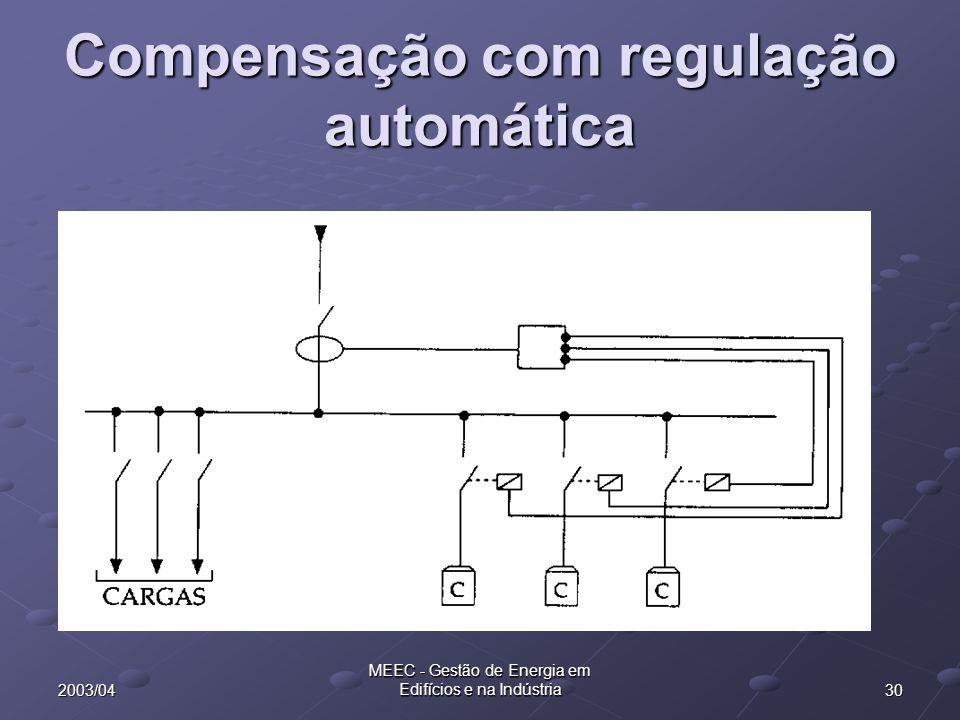 Compensação com regulação automática