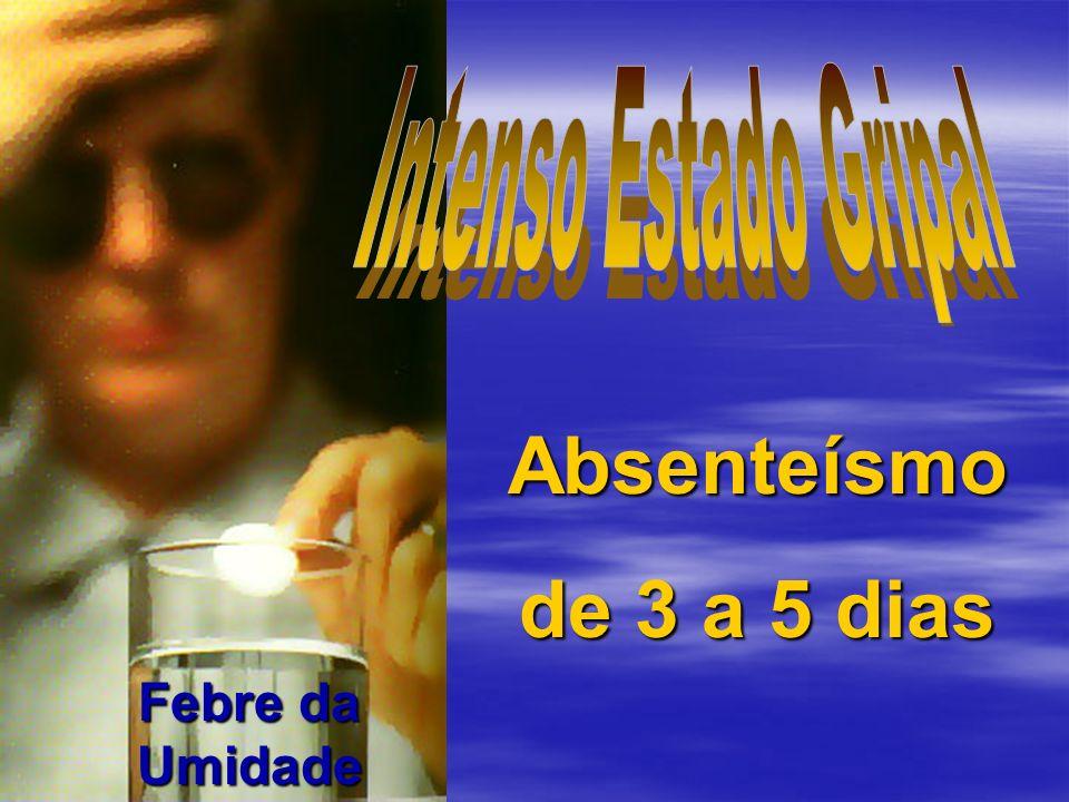 Absenteísmo de 3 a 5 dias Intenso Estado Gripal Febre da Umidade
