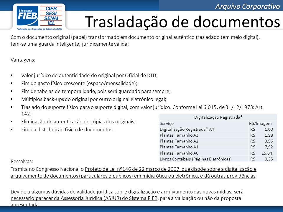 Trasladação de documentos