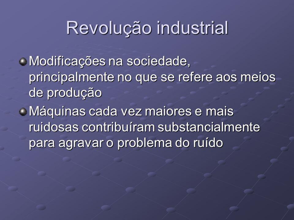 Revolução industrial Modificações na sociedade, principalmente no que se refere aos meios de produção.