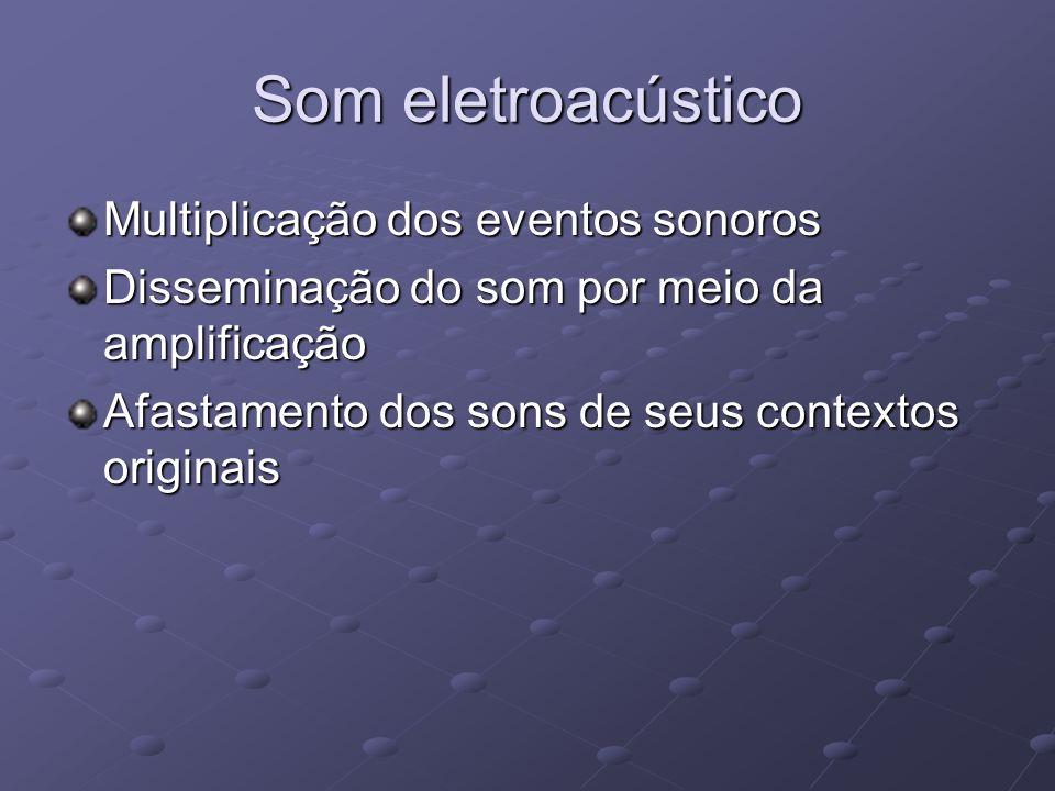 Som eletroacústico Multiplicação dos eventos sonoros