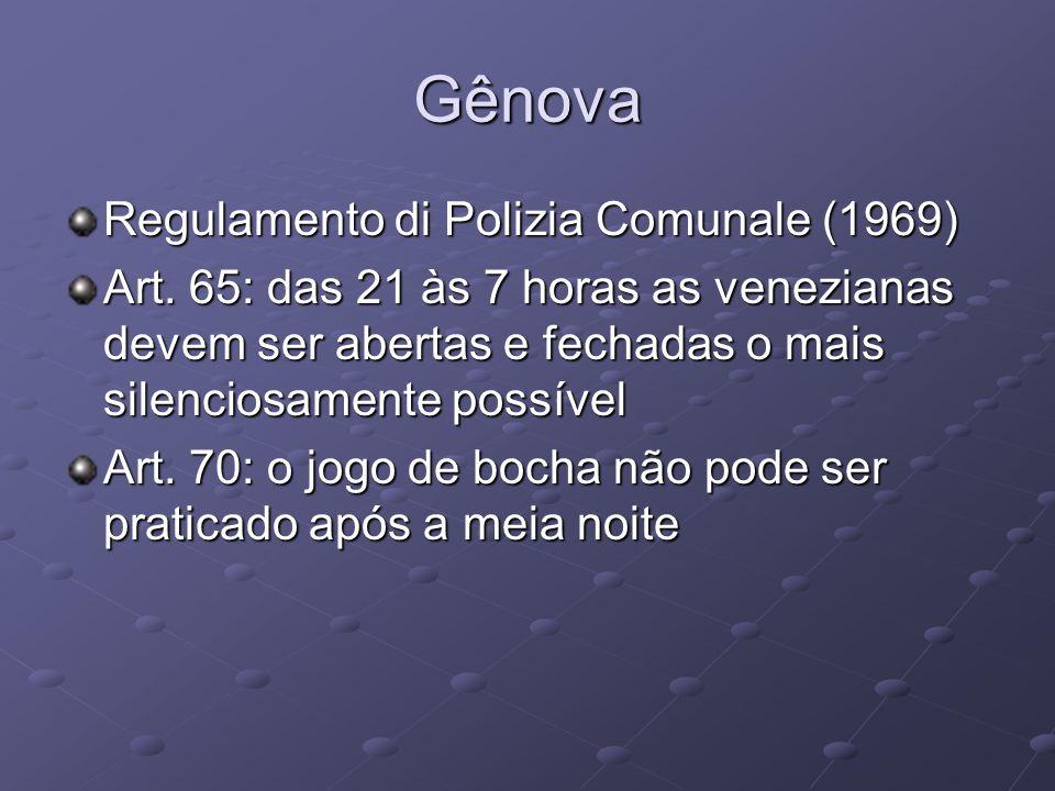 Gênova Regulamento di Polizia Comunale (1969)