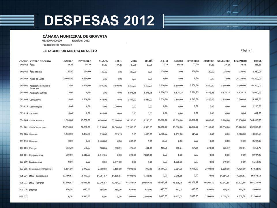 DESPESAS 2012