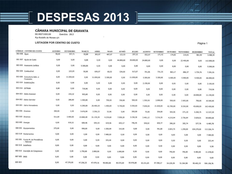 DESPESAS 2013