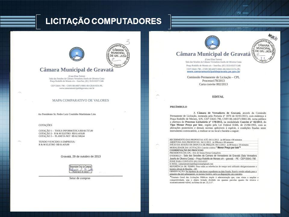 LICITAÇÃO COMPUTADORES