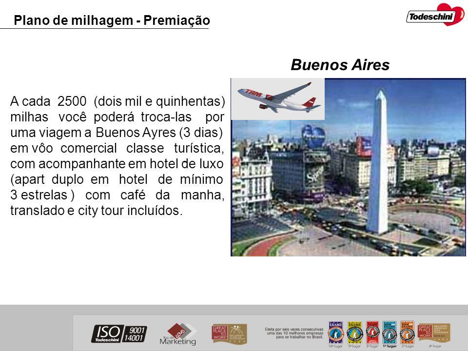 Buenos Aires Plano de milhagem - Premiação