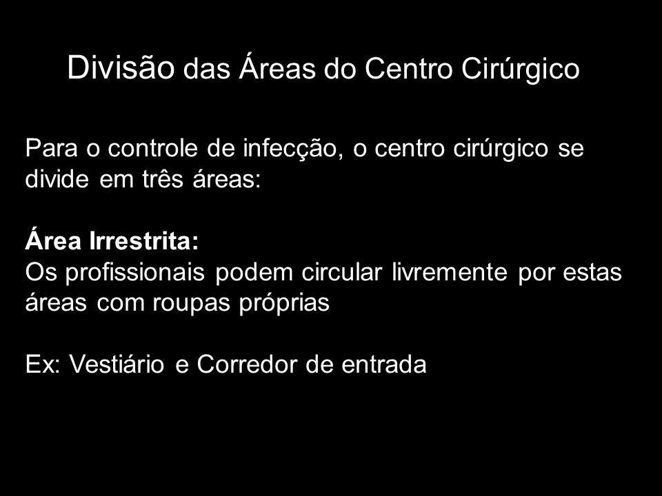 Divisão das Áreas do Centro Cirúrgico