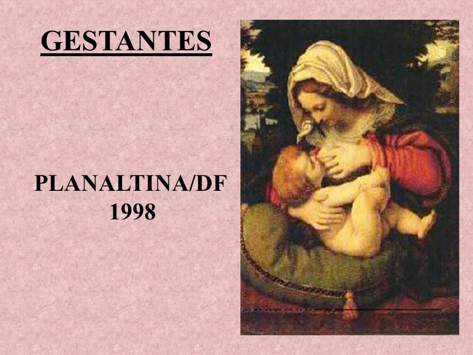 GESTANTES PLANALTINA/DF 1998