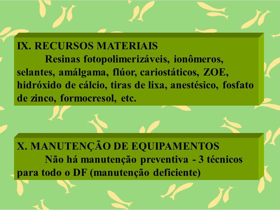 IX. RECURSOS MATERIAIS