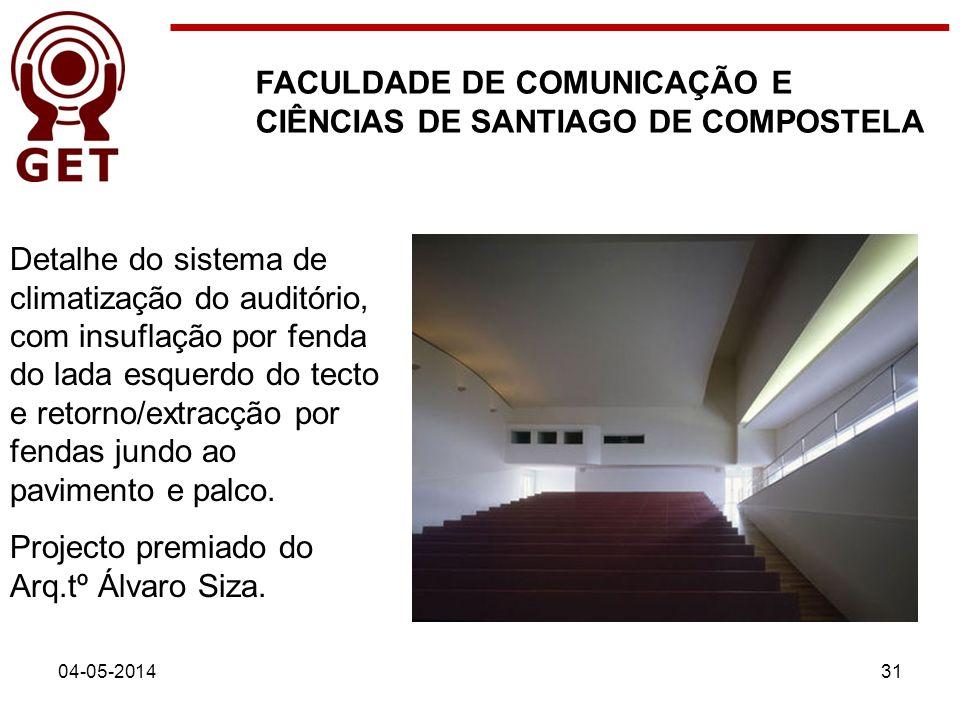 FACULDADE DE COMUNICAÇÃO E CIÊNCIAS DE SANTIAGO DE COMPOSTELA