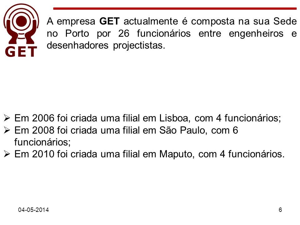 Em 2006 foi criada uma filial em Lisboa, com 4 funcionários;