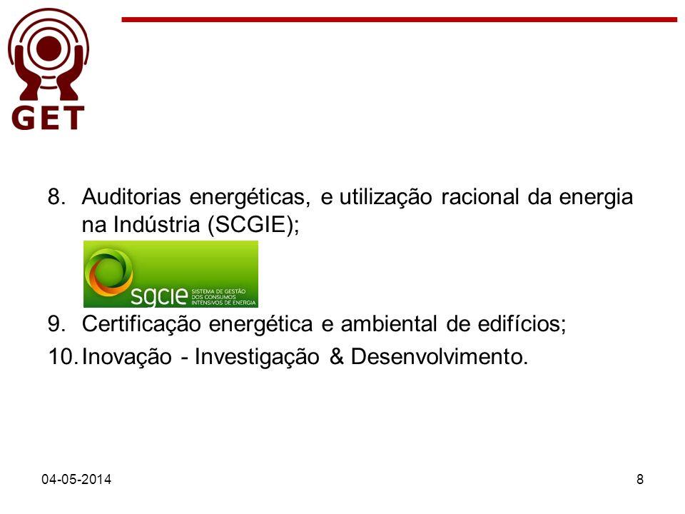 Certificação energética e ambiental de edifícios;