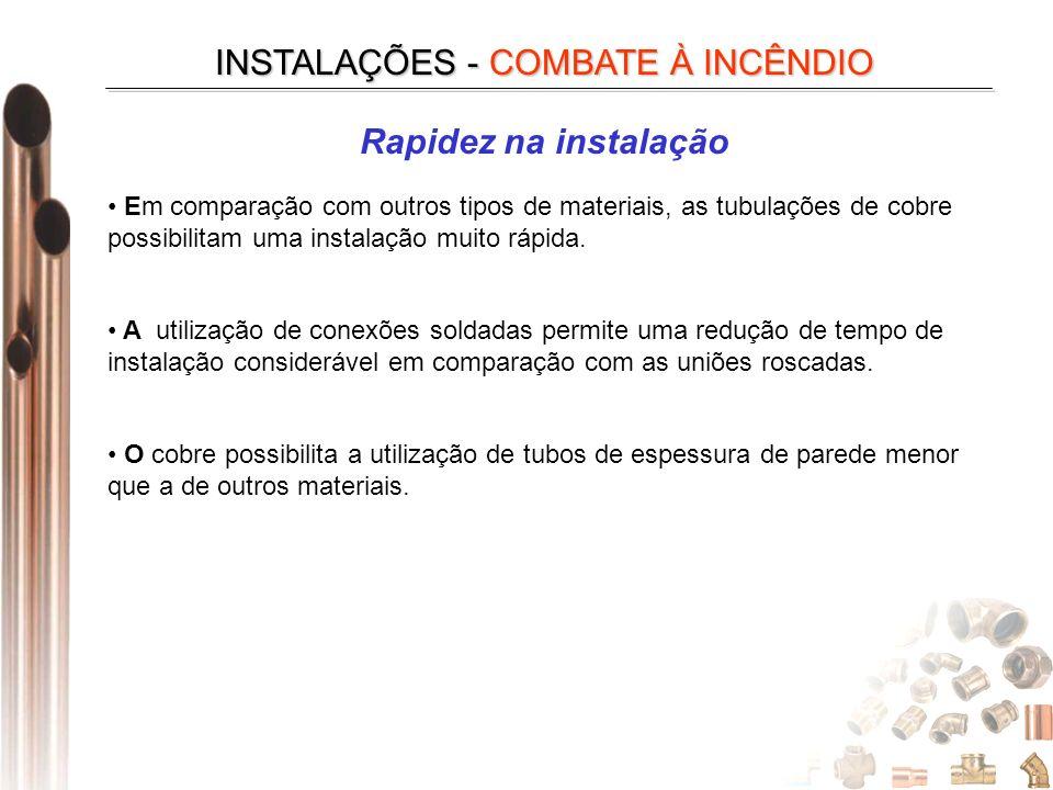 INSTALAÇÕES - COMBATE À INCÊNDIO