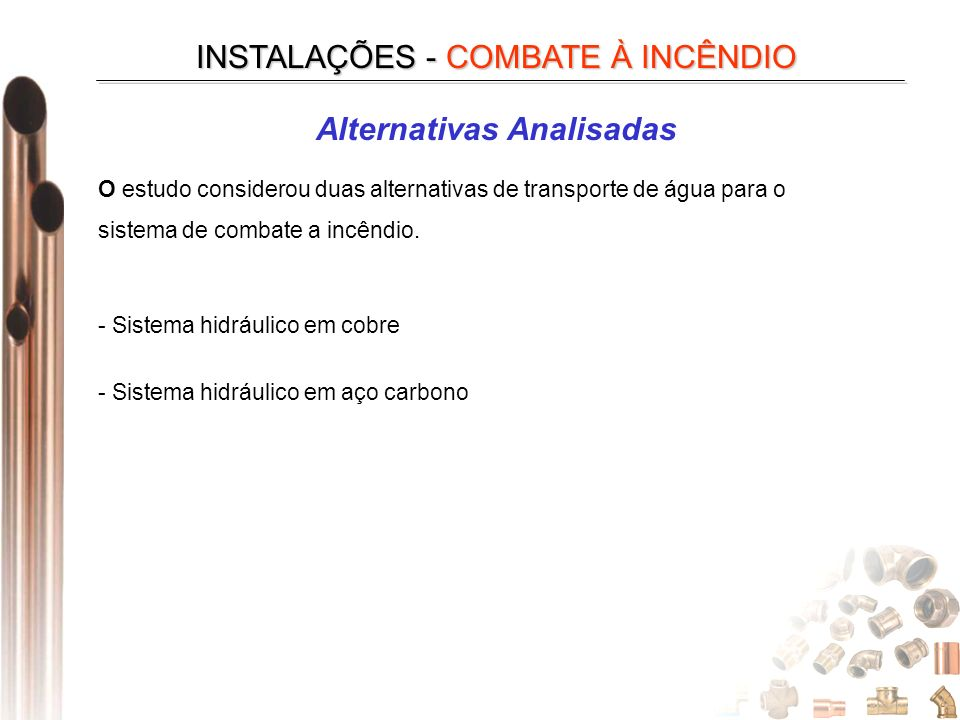 Alternativas Analisadas