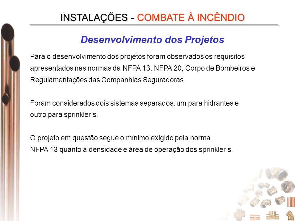 Desenvolvimento dos Projetos