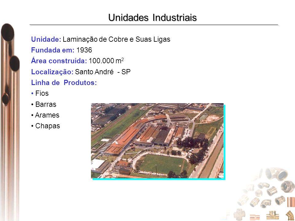 Unidades Industriais Unidade: Laminação de Cobre e Suas Ligas