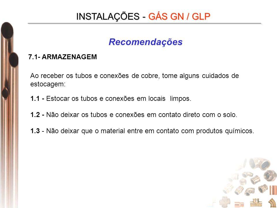INSTALAÇÕES - GÁS GN / GLP