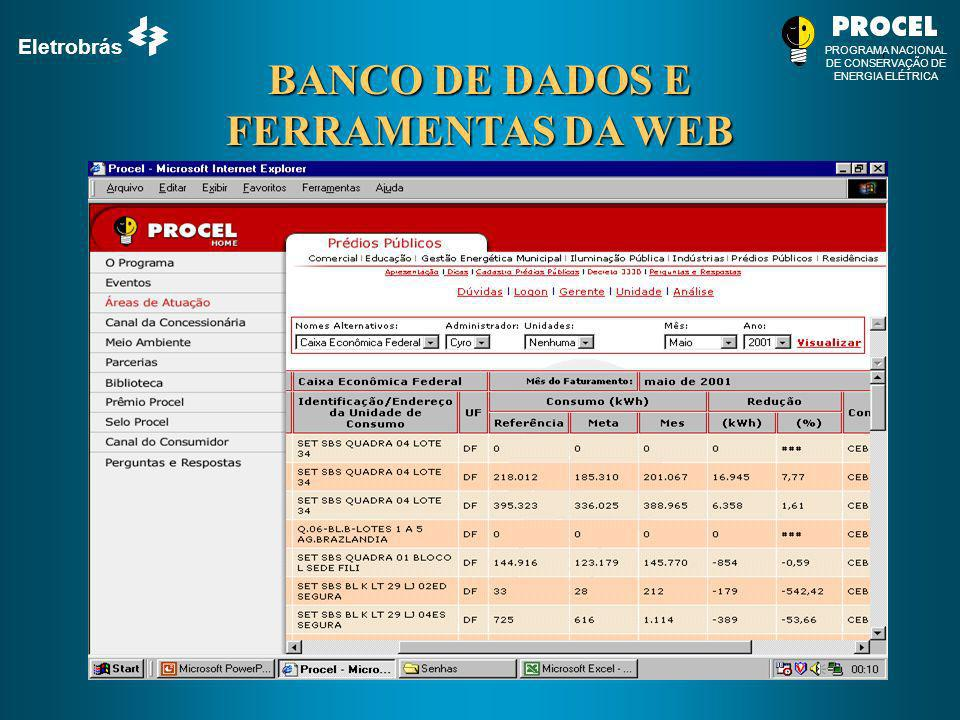 BANCO DE DADOS E FERRAMENTAS DA WEB