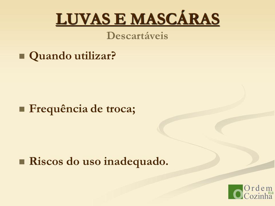 LUVAS E MASCÁRAS Descartáveis