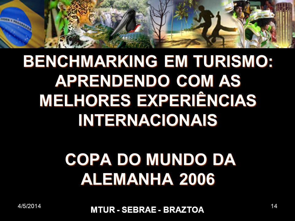 BENCHMARKING EM TURISMO: APRENDENDO COM AS MELHORES EXPERIÊNCIAS INTERNACIONAIS COPA DO MUNDO DA ALEMANHA 2006