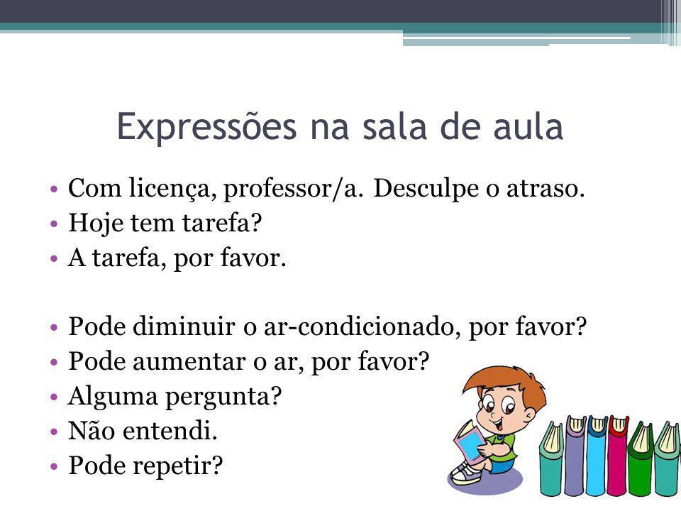 Expressões na sala de aula